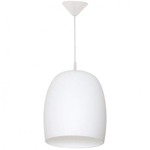 Biała lampa wisząca Una - głęboki klosz
