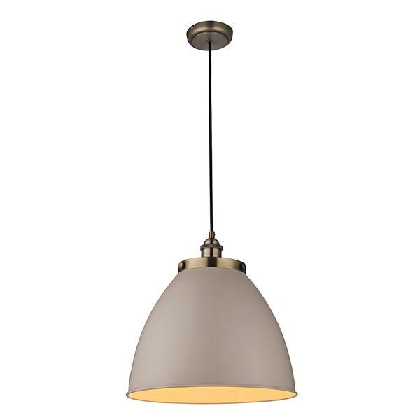 szara lampa wisząca metalowa retro