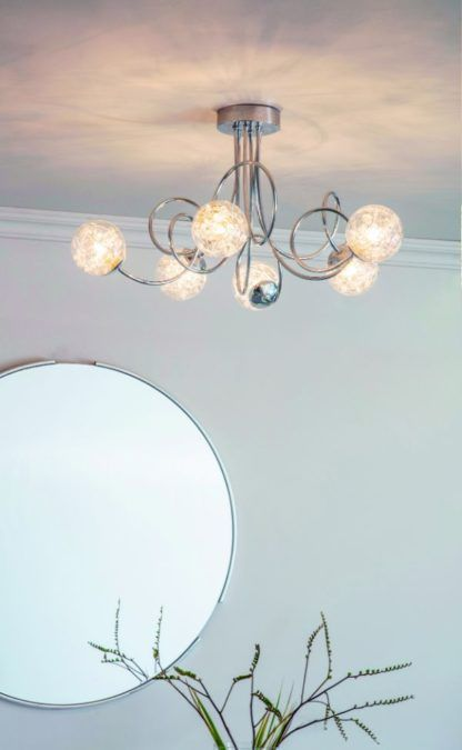 oryginalna lampa sufitowa szklane klosze