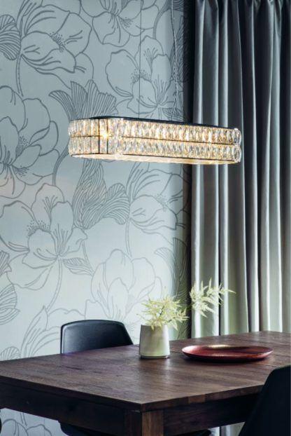 kryształowa lampa wisząca nad stół