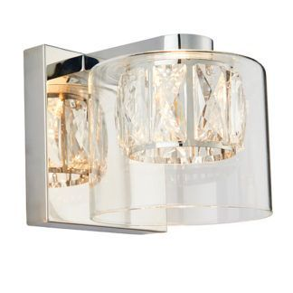 Elegancki kinkiet Verina - szklany, srebrny, glamour