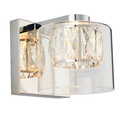 szklany srebrny kinkiet nowoczesne glamour