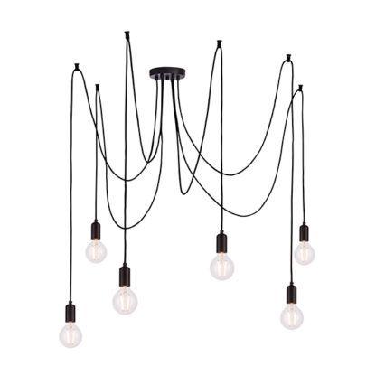 nowoczesna lampa pająk czarna