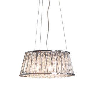Lampa wisząca Sophia - srebrna, kryształki