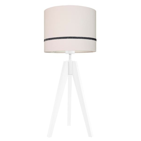 lampa stołowa z jasnoróżowym abażurem