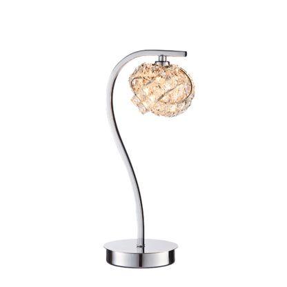 lampa stołowa z kryształowym kloszem
