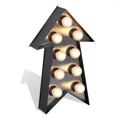 lampa stojąca kształt strzałki