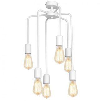 Nowoczesna lampa wisząca Ezop Eko - biała