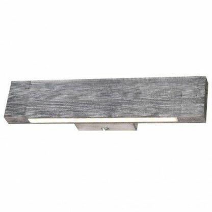 drewniany kinkiet listwa led