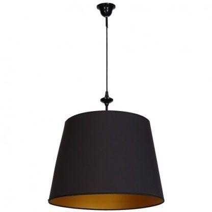 czarna lampa wisząca z abażurem