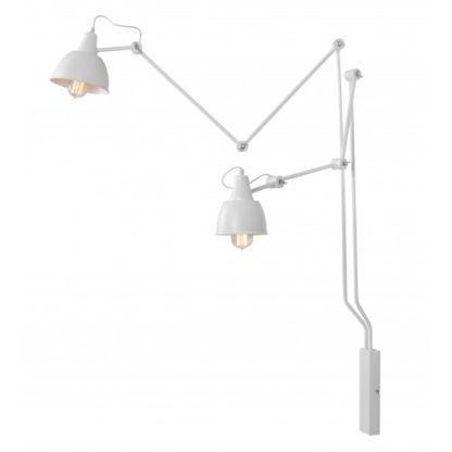 podwójna lampa na wysięgniku biała