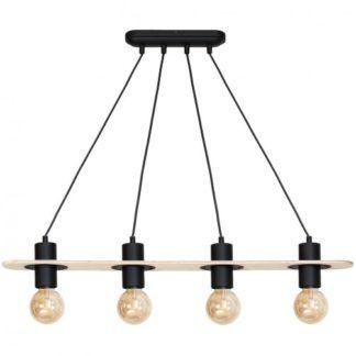 Minimalistyczna lampa wisząca Alba - rustykalna