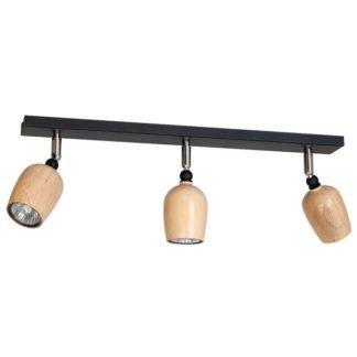 Lampa sufitowa Alf 1 - drewniane klosze, czarna