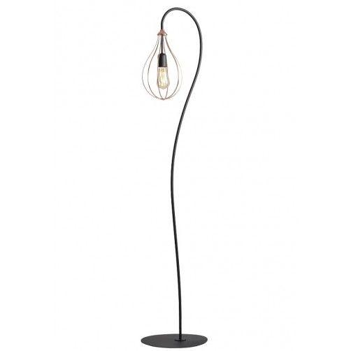 Efektowna lampa podłogowa Allegra - druciany klosz