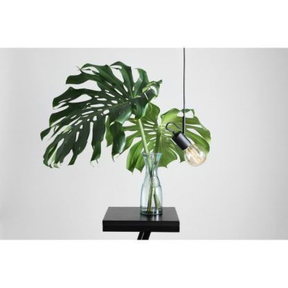 minimalistyczna czarna lampa wisząca