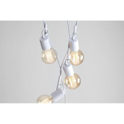 Nowoczesna lampa wisząca Aluna - białe klosze