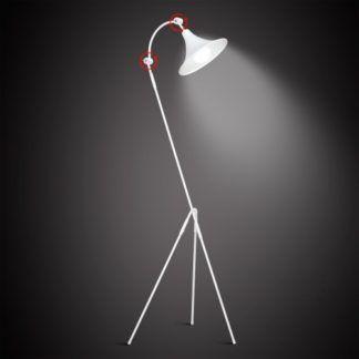 Oryginalna lampa podłogowa Antika - biały trójnóg
