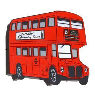 Młodzieżowy kinkiet Autobus - czerwony