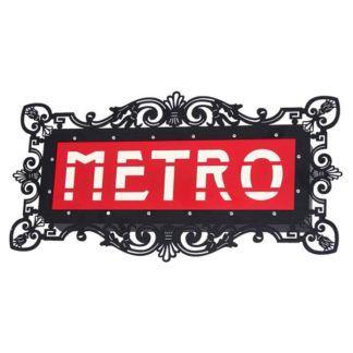 Efektowny kinkiet Metro - metalowa oprawa