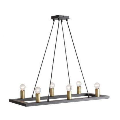 Designerska lampa wisząca Asti - rustykalny