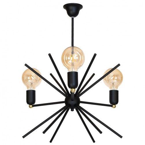 Designerski żyrandol Astra - czarny, sputnik