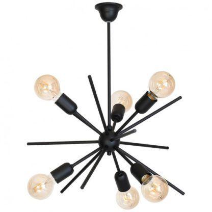 lampa wisząca czarna sputnik