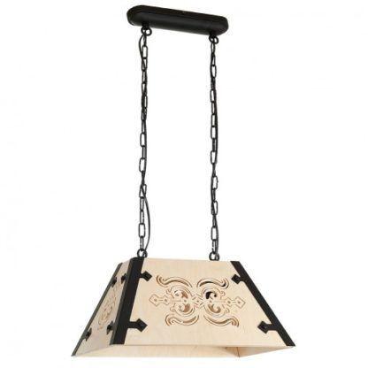 drewniana lampa w stylu góralskim
