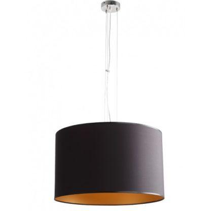 czarna lampa ze złotym środkiem