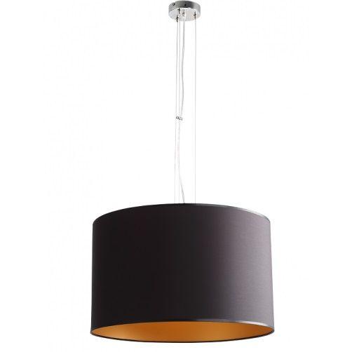Elegancka lampa wisząca Barilla - czarny, okrągły abażur