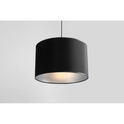 czarna lampa wisząca srebrna w środku