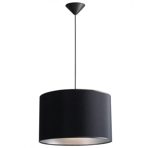 lampa wisząca czarny abażur srebrny w środku