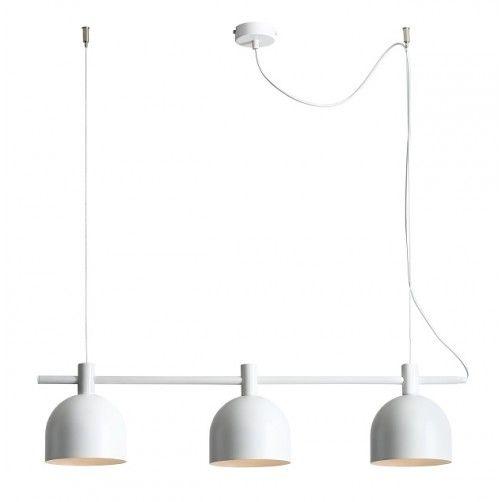 nowoczesna biała lampa wisząca nad stół