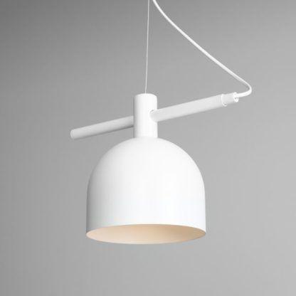 skandynawska biała lampa wisząca