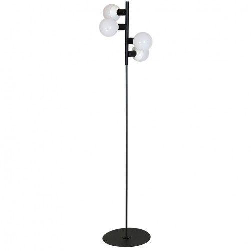 lampa podłogowa czarna nowoczesna