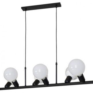 Nowoczesna lampa wisząca Biker - czarna, metalowa
