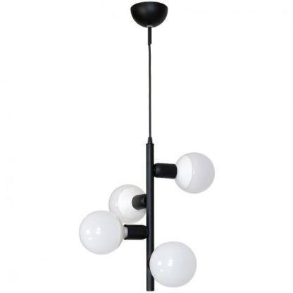 czarna pionowa lampa wisząca nowoczesna