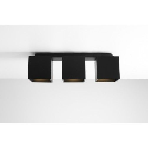 czarna lampa sufitowa kwadratowe klosze