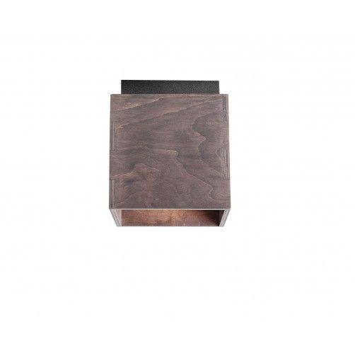 brązowy drewniany spot sufitowy