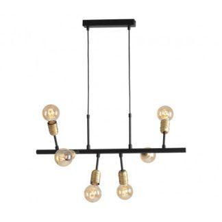 Industrialna lampa wisząca Bolzano - metalowa, czarna