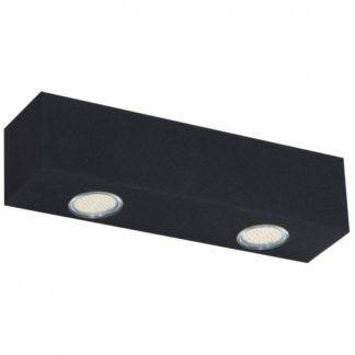Czarna lampa sufitowa Brasco - 2 źródła światła