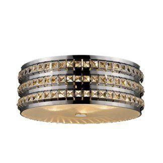 Efektowna lampa sufitowa Barbosa - srebrna, kryształki