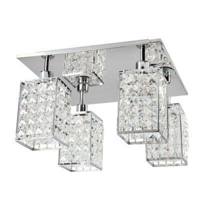lampa sufitowa klosze z kryształków