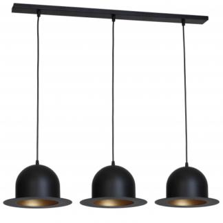 Oryginalna lampa wisząca Charlie - 3 metalowe klosze