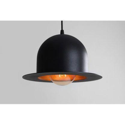 lampa wisząca klosz w kształcie melonika
