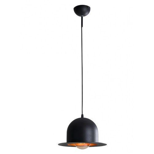 czarna oryginalna lampa wisząca do knajpki
