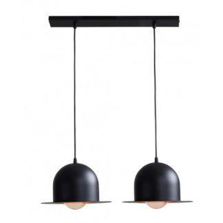 Podwójna lampa wisząca Charlie - czarne meloniki