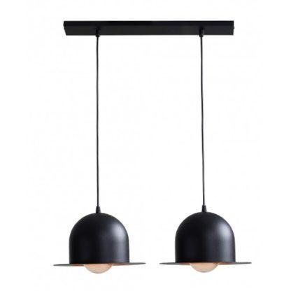 podwójna lampa wisząca metalowe meloniki