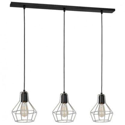 potrójna lampa wisząca druciane klosze