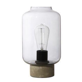 Szklana lampa stołowa Column - industrialna