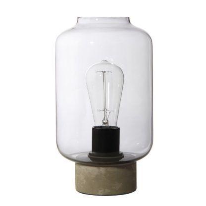 szklana lampa stołowa słoik